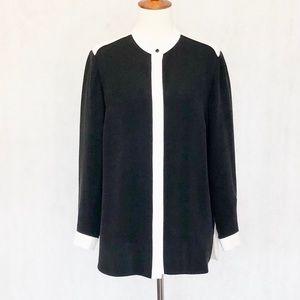 Lafayette 148 Silk Long Sleeve Blouse